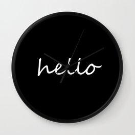Hello Black & White Wall Clock
