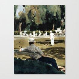Lawn Bowls Spectator Canvas Print