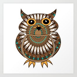 Owl the Messenger Art Print
