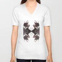 haikyuu V-neck T-shirts featuring Sketchy Kuroo by kanda3egle