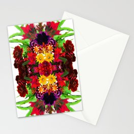 Psychedelic Floral Kaleidoscope #1  Stationery Cards