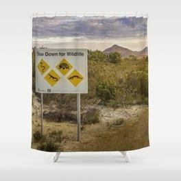 The Australian Roadtrip of Wildlife Road Signs Shower Curtain