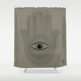 HAND PROTECTION Shower Curtain