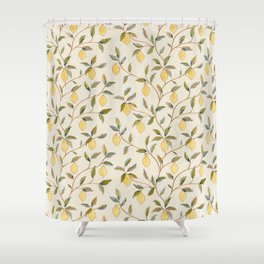 William Morris Vintage Lemon Tree Pattern Shower Curtain
