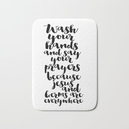 Wash Your Hands Printable Art Bible Verse Art Bable Cover Bible Verse Quotes Nursery Wall Art Bath Mat
