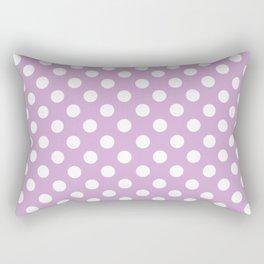 Violet Dots Pattern Rectangular Pillow
