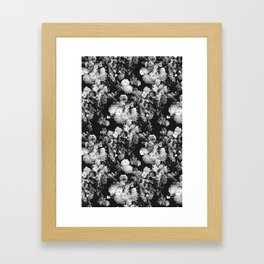 Through The Flowers // Floral Collage Framed Art Print