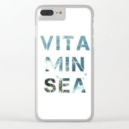 Vitamin Sea II Clear iPhone Case