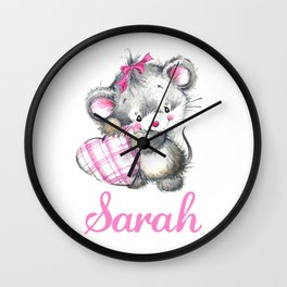 Sarah - Little Mouse Wall Clock