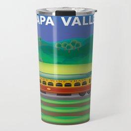 Napa Valley, California - Skyline Illustration by Loose Petals Travel Mug
