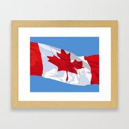 CANADIAN FLAG 01. Framed Art Print