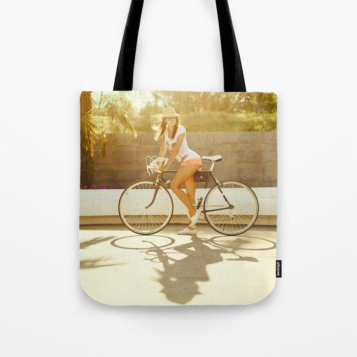 Velo girl Tote Bag