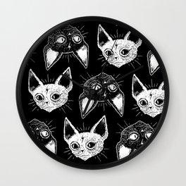 Kittens (Black Version) Wall Clock