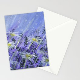 Purple Daises Stationery Cards