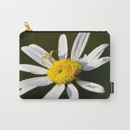 Tiny Daisy And Crab Spider Carry-All Pouch
