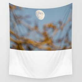 Moon Through the Trees Wall Tapestry