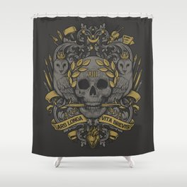 ARS LONGA VITA BREVIS Shower Curtain