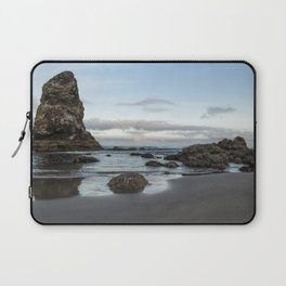 A Serene Morning at Cannon Beach Laptop Sleeve