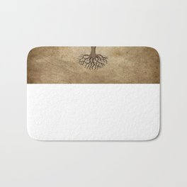 Vintage Tree of Life with Flag of Bulgaria Bath Mat