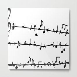 Barbed Wire Stave Metal Print