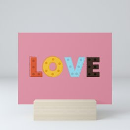 happy LOVE - typography Mini Art Print
