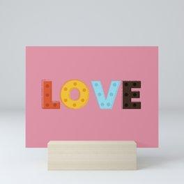 happy LOVE - typography Mini Art Print
