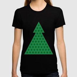 Christmas tree triangles T-shirt