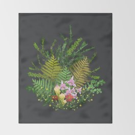 Bog Bouquet Throw Blanket