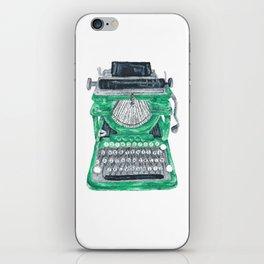 Green Typewriter iPhone Skin