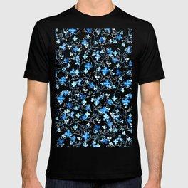 small blue flowers pattern T-shirt