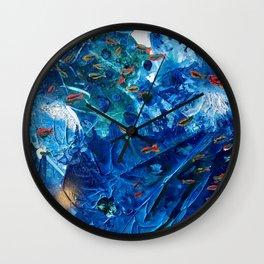 Rainbow Fish Swim, Environmental Tiny World Collection Wall Clock