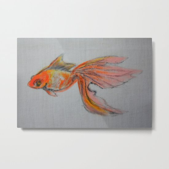 Goldfish Pond (close up #9) Metal Print