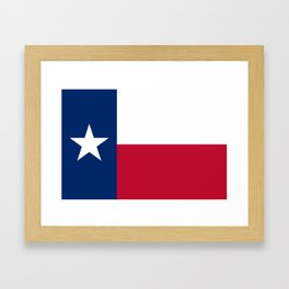 Texas State Flag, Authentic Version Framed Art Print