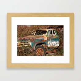 The old truck at the dovetail Framed Art Print