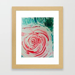 Where the Pink Roses Grow, Summer is Ending and Romantic Fall Nights are Here Framed Art Print