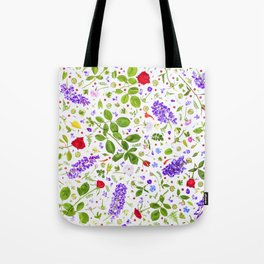 Leaves and flowers (14) Tote Bag