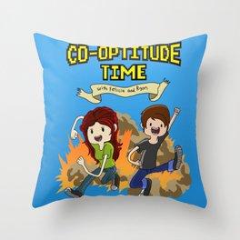 Co-Optitude Time Throw Pillow
