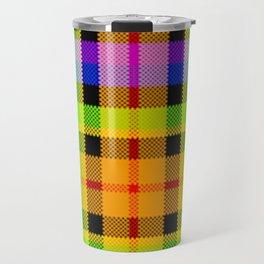 Bright Tartan, Squared Up Travel Mug