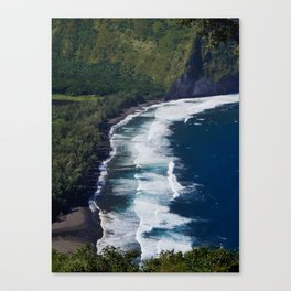 Waipio Valley Beach Canvas Print