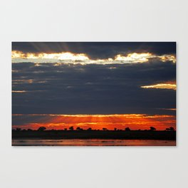 Dramatic evening sky in Africa Canvas Print