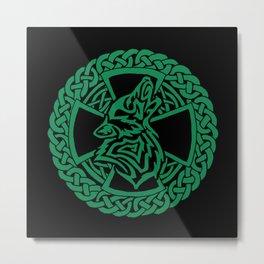 Celtic Wolf Metal Print