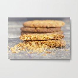 Painted oatmeal cookies Metal Print