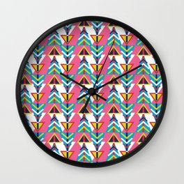 geometry and arrows Wall Clock