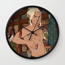 Tavern Tribulations Wall Clock