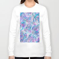 ikat Long Sleeve T-shirts featuring Overlayed Ikat by sarahroseprint