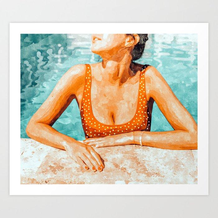 Mi Bebida Por Favor #painting #summer Art Print