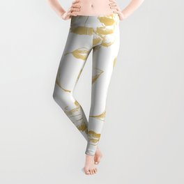 Gold grapes and leaves pattern Leggings
