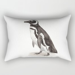 Penguin Watercolor Painting Rectangular Pillow