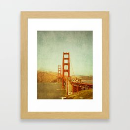 Golden Gate Bridge / San Francisco, California Framed Art Print
