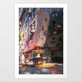 Hundertwasserhaus 3 Vienne Autriche Art Print